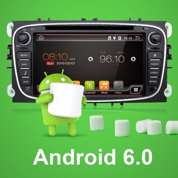 Quad Core Android 6.0 2 DIN android-автомобильный радио GPS для Ford Focus 2 S-Max Mondeo C- MAX Зеркало Ссылка Wi-Fi 3 г/4 г DVD